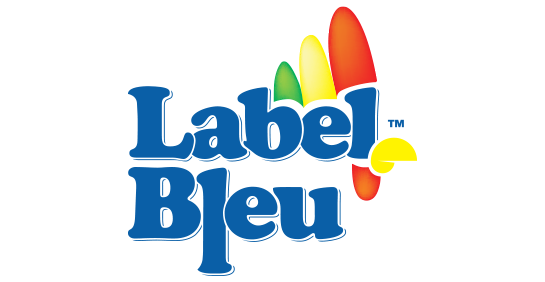 label bleu