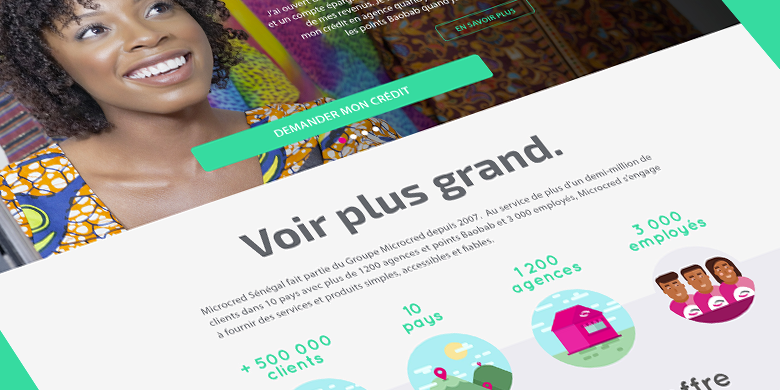 site internet pour Microcred