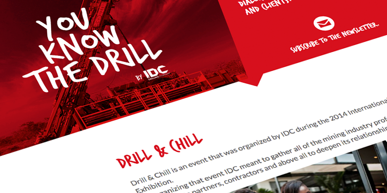 SITE INTERNET pour international drilling company